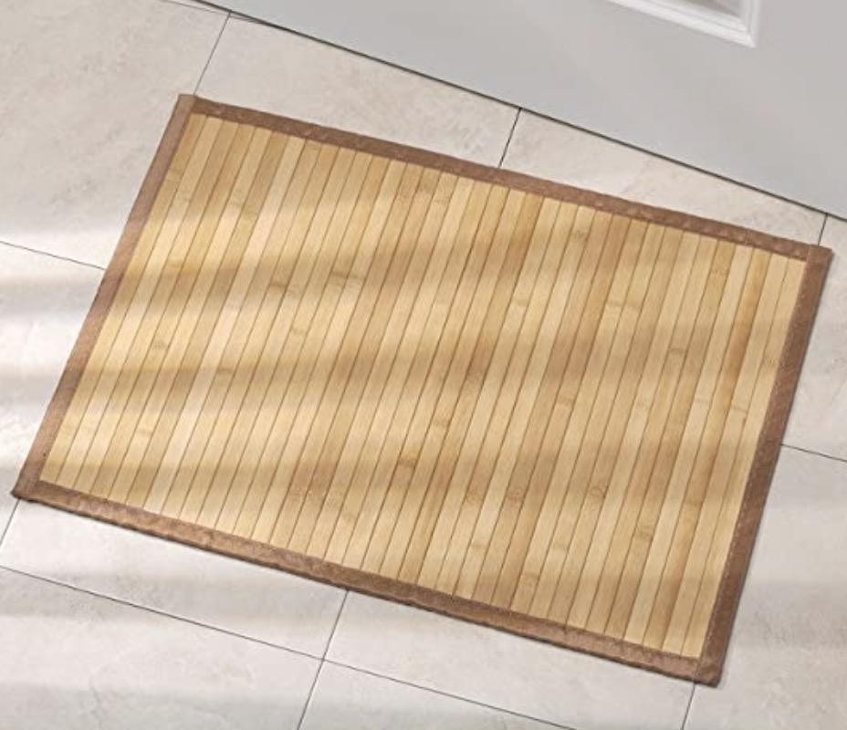 iDesign Formbu Non-skid And Water-resistant Bamboo Bath Mat
