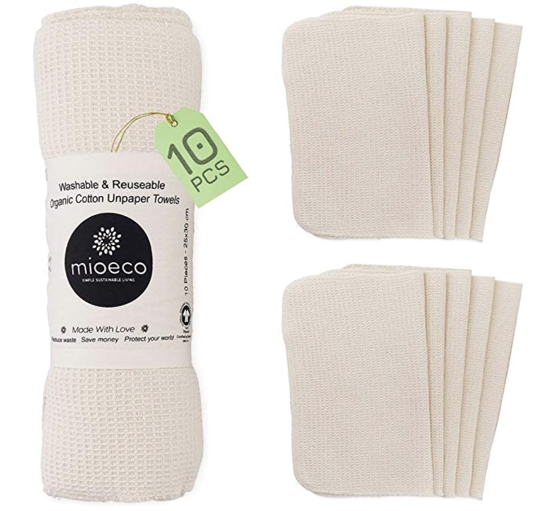 Mioeco Reusable Unpaper Towels Washable