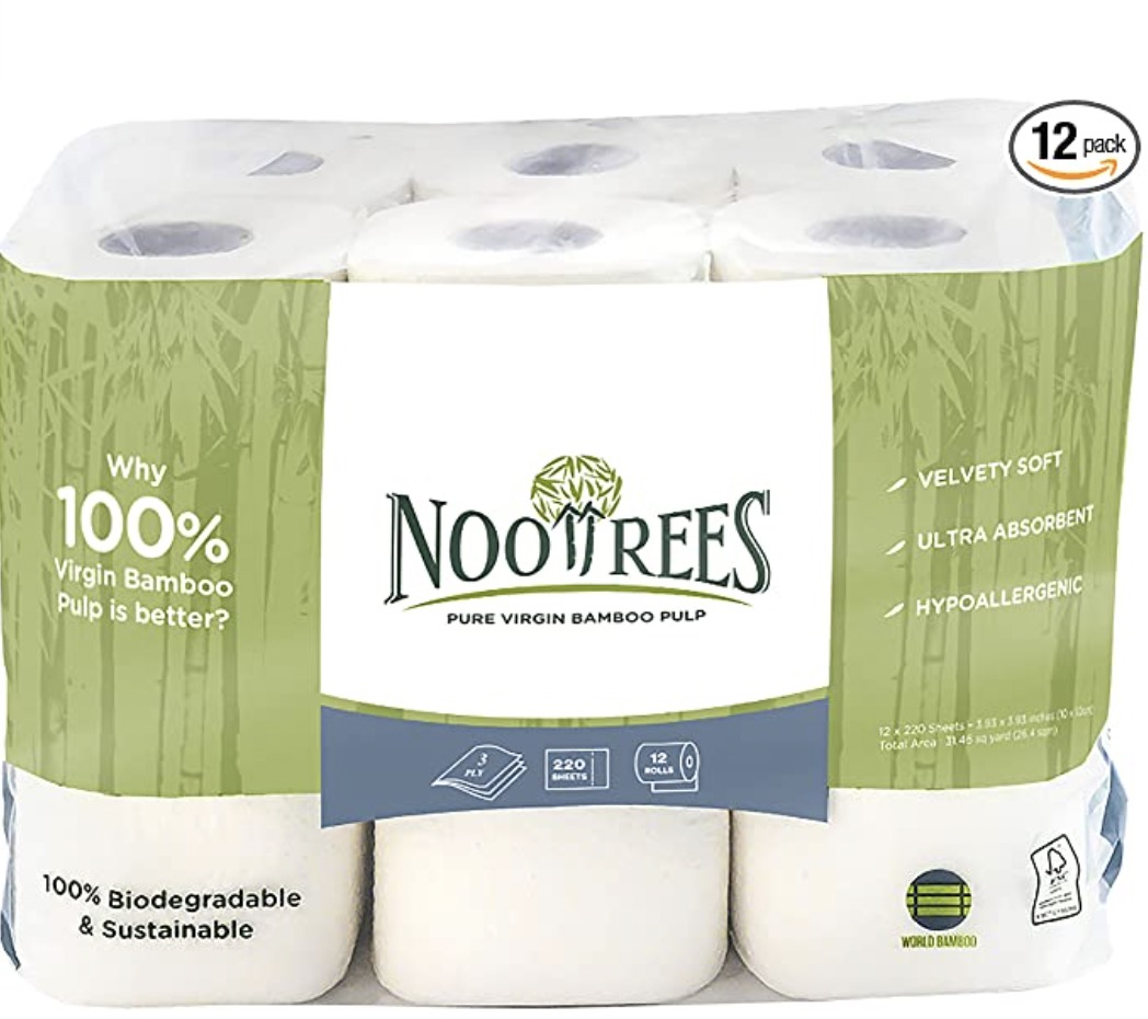NooTrees Bamboo 3 Ply Bathroom Tissue Eco-friendly