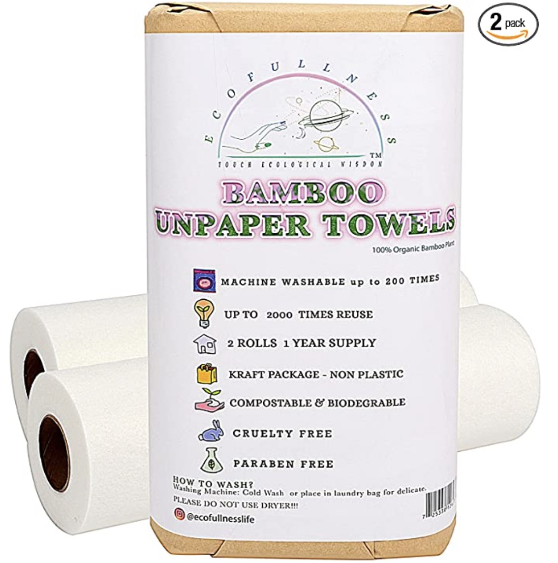 ECOFULLNESS Eco-Friendly Paper Towel Alternative