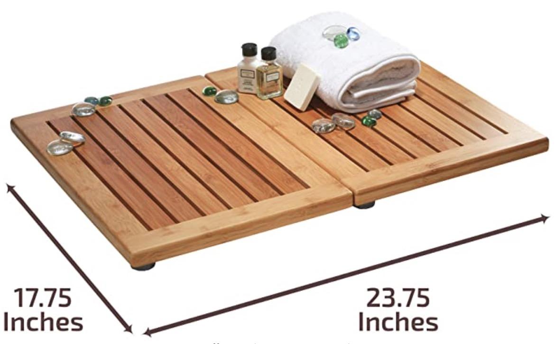 Bambüsi Premium Foldable and Non-slip Bamboo Bath Mat