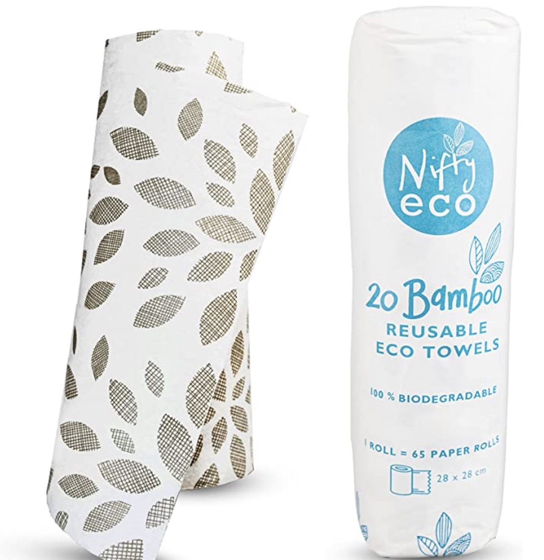Nifty eco Reusable Bamboo Paper Towels Washable
