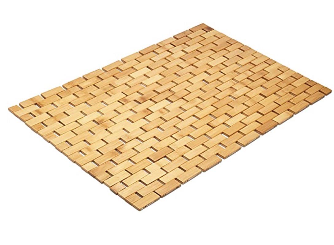 Morvat Moisture-resistant And Lattice Design Bamboo Bath Mat