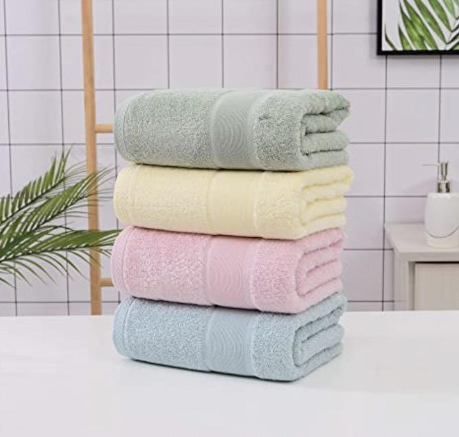 Aibasser - Permium Bamboo Cotton Bath Towels
