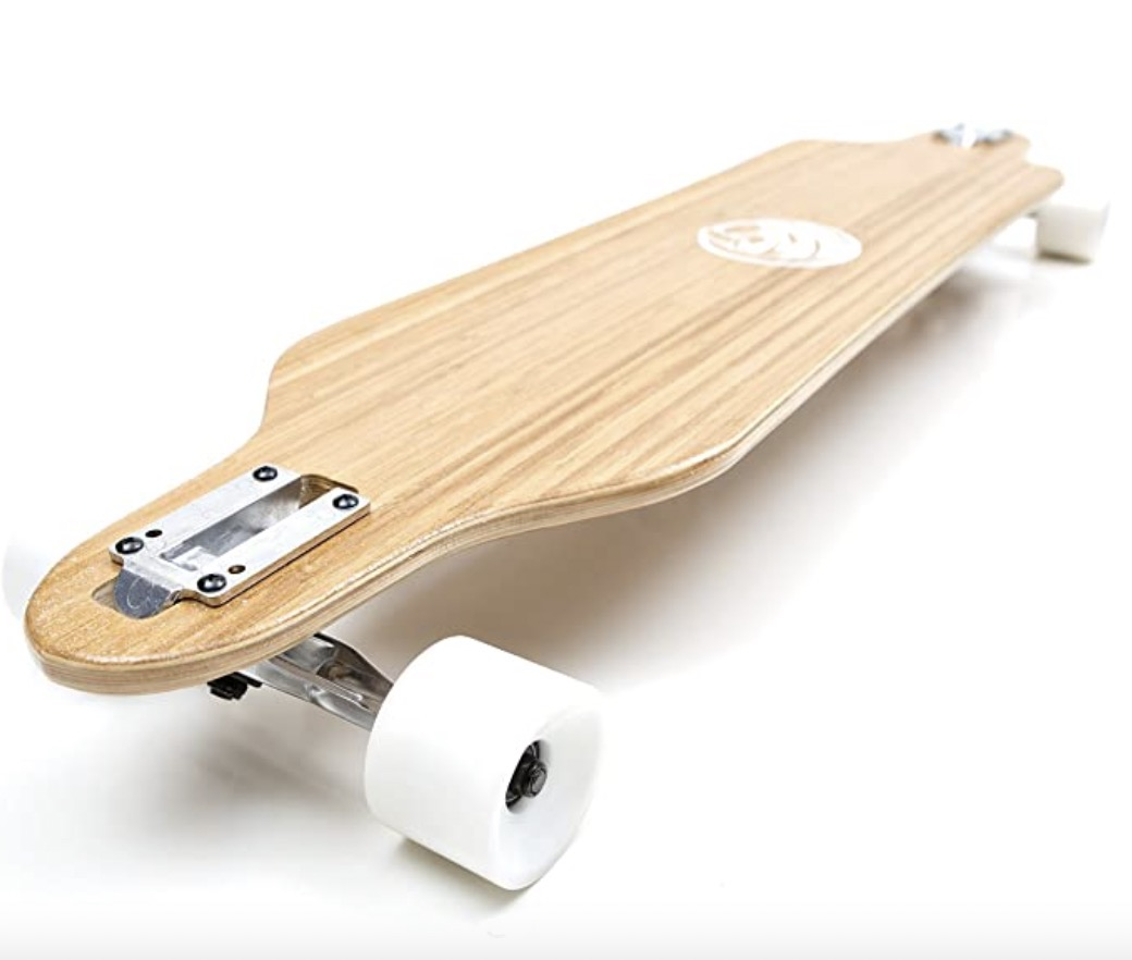White Wave Bamboo Longboard