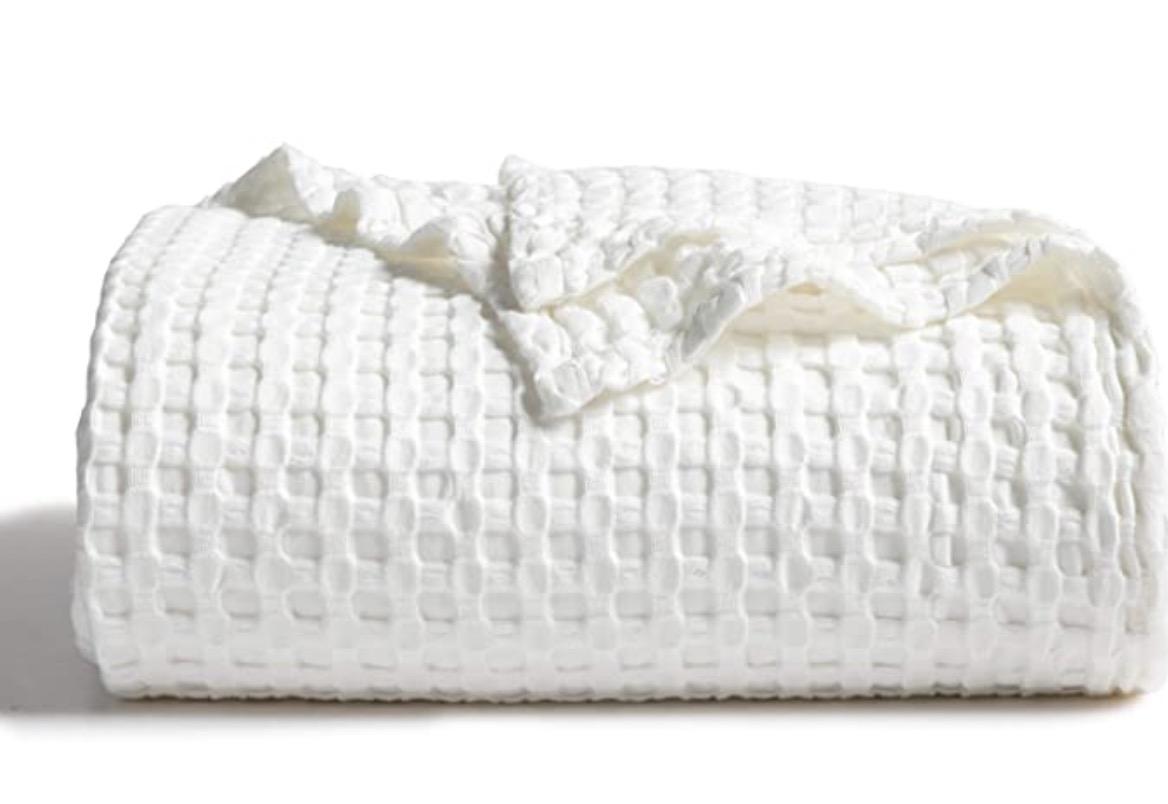 Bedsure Waffle Bamboo Blanket Cotton