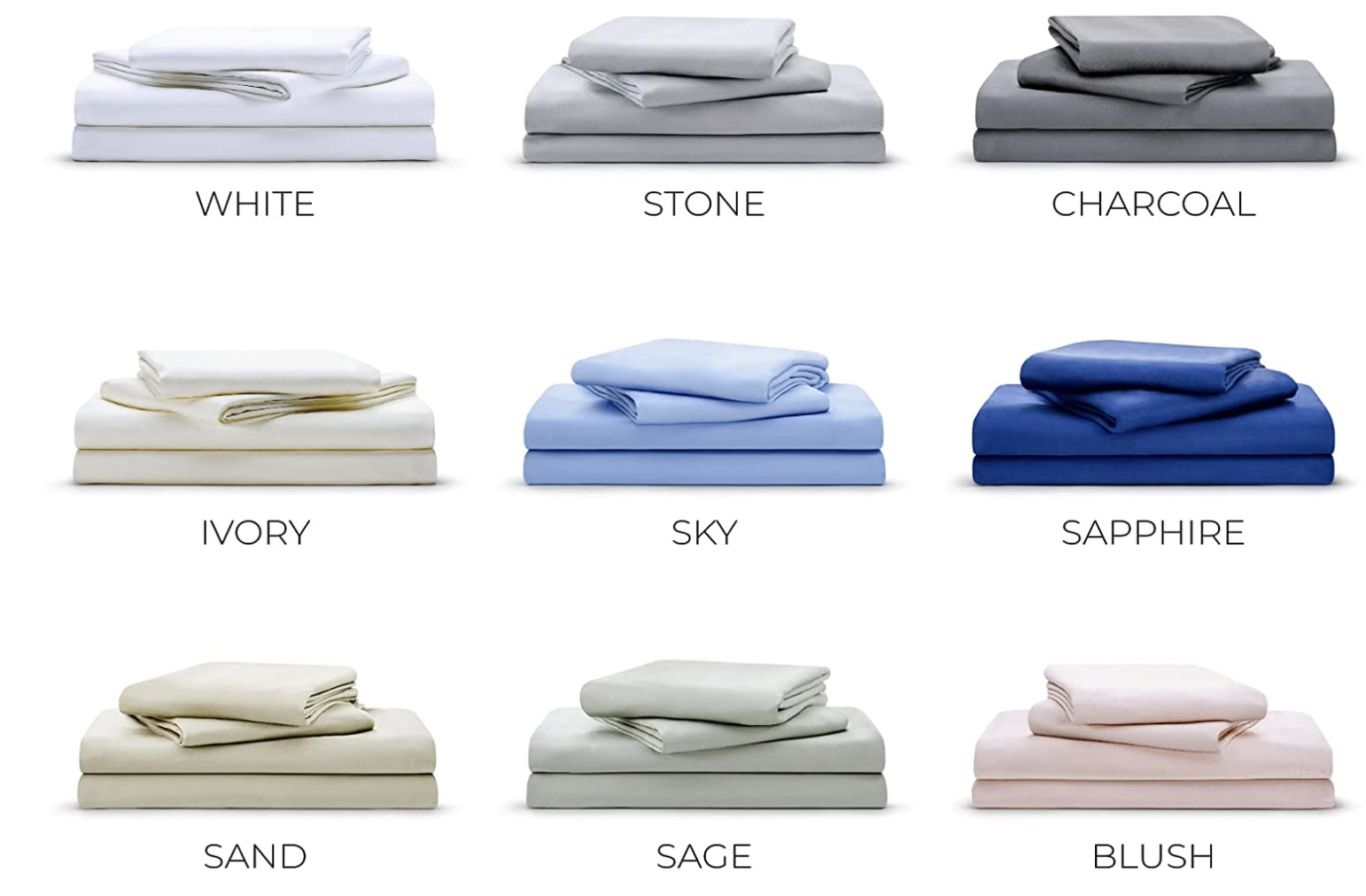 4 Luxome Bamboo Bed Sheets Variety