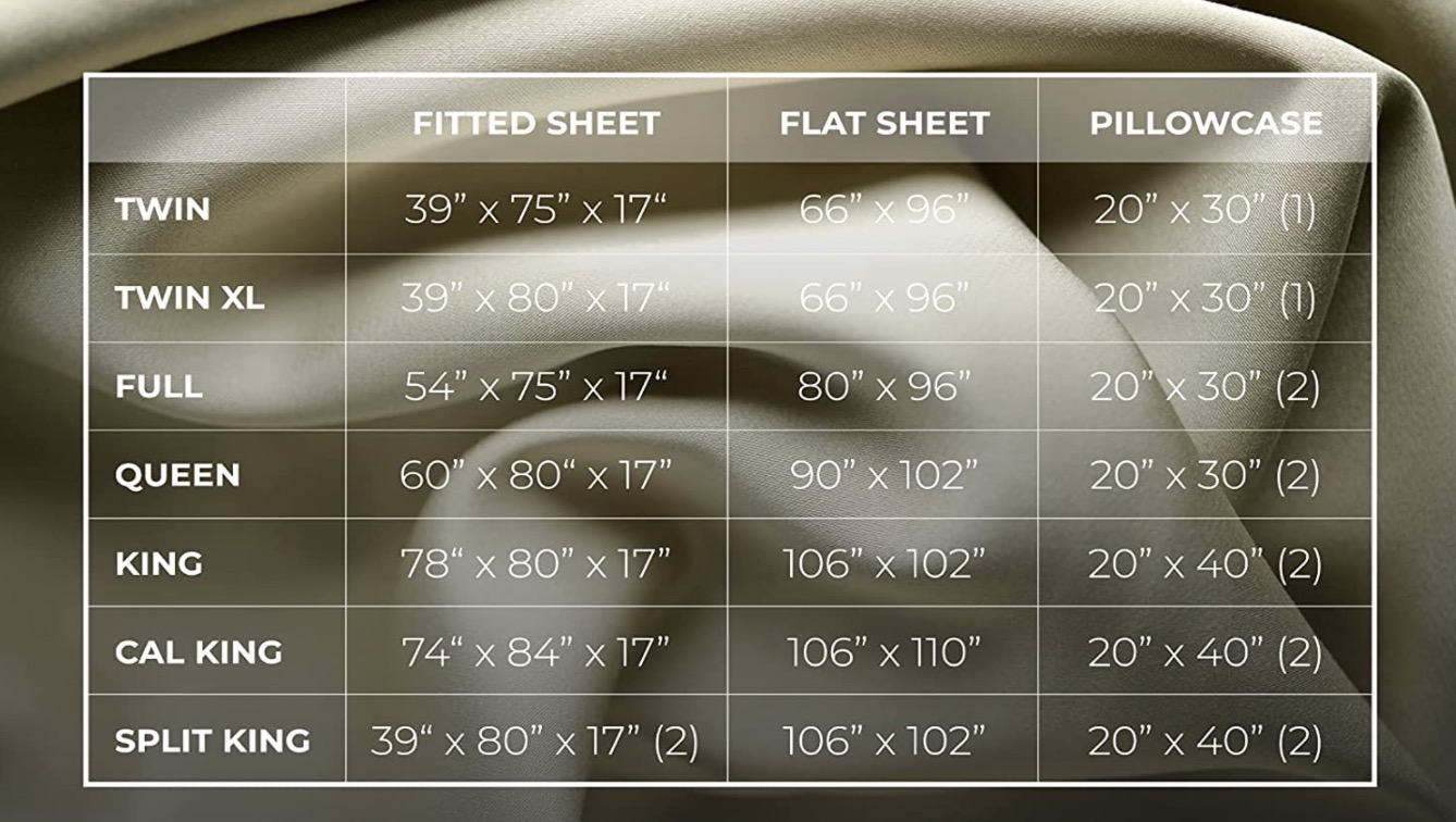 5. size Luxome Bamboo Bed Sheets