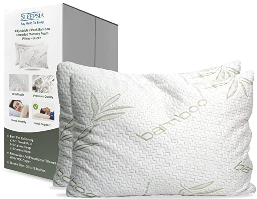 Sleepsia - Shredded Memory Foam Pillow