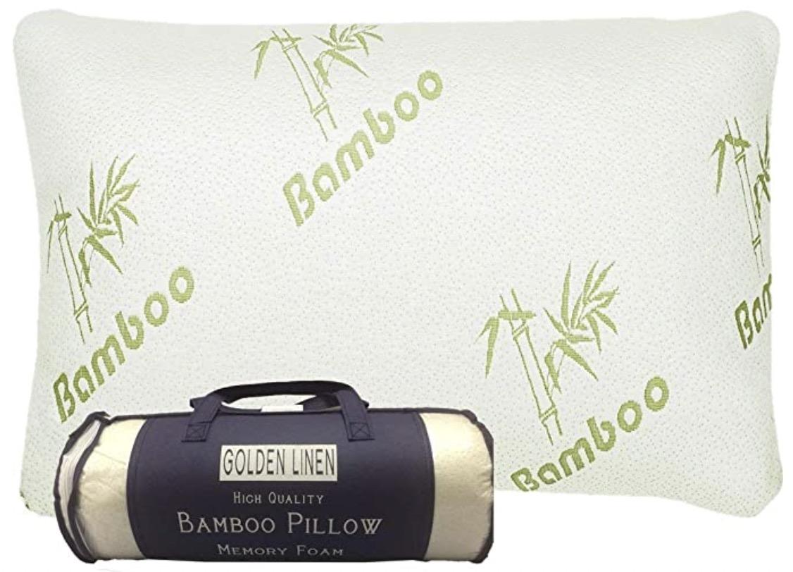 Golden linens LLC - King Size Bamboo Pillow Memory Foam