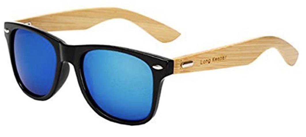 Long Keeper Bamboo Wood Arms Sunglasses