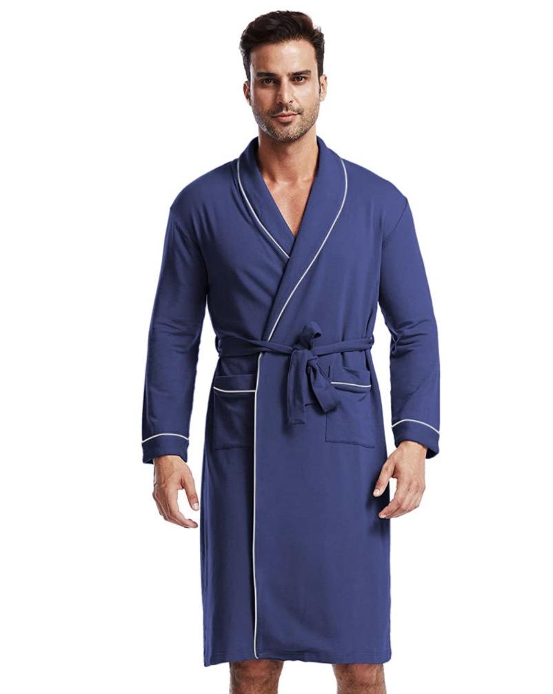 Ham&Sam Men's Robe Knit Bamboo Cotton