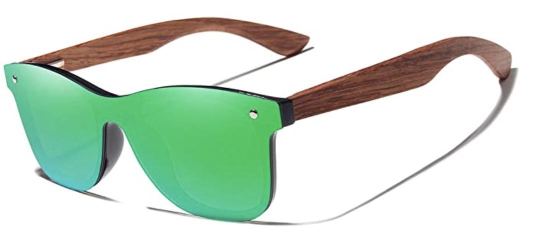 KINGSEVEN Bamboo Wood Polarized Sunglasses